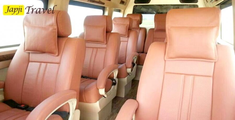 9 Seater Luxury Tempo Traveller on Rent Delhi